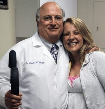 Dr. D'Amato and Patient